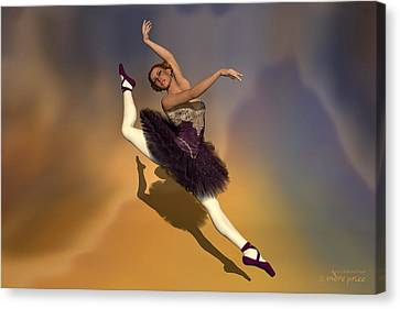 Prima Ballerina Georgia Grand Jete Pose Canvas Print by Andre Price