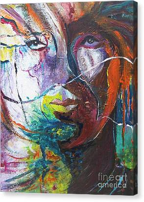 Canvas Print featuring the painting Primal by Diana Bursztein