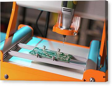 Printed Circuit Board Processing Canvas Print by Wladimir Bulgar