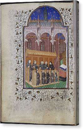 Psalter Of Henry Vi Canvas Print by British Library
