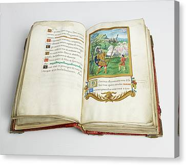 Psalter Of Henry Viii Canvas Print by British Library
