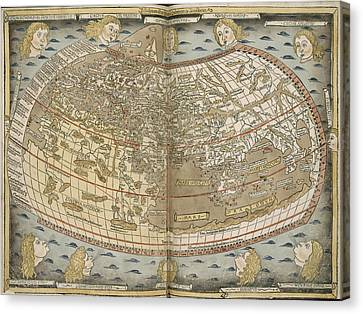 Ptolemy's World Map Canvas Print by British Library