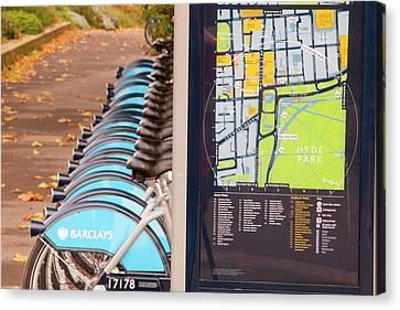 Public Bike Hire Scheme Canvas Print