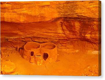 Pueblo Indian Ruins  Canvas Print by Jeff Swan