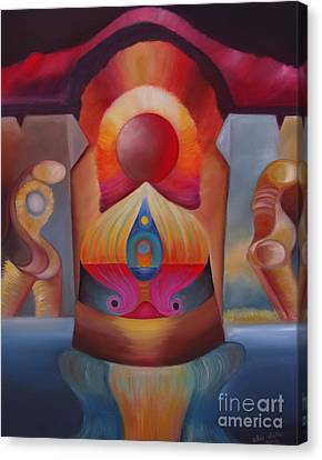 Puerta Solar Canvas Print by Aliosha Valle