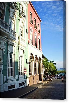 Puerto Rico, Old San Juan, Street Canvas Print by Miva Stock