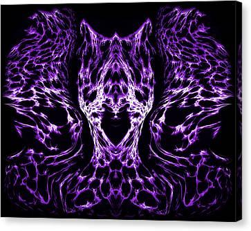 Purple Series 4 Canvas Print by J D Owen