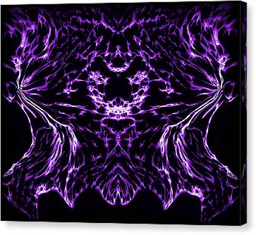 Purple Series 8 Canvas Print by J D Owen