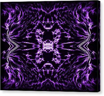 Purple Series 9 Canvas Print by J D Owen