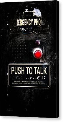 Police Art Canvas Print - Push To Talk by Bob Orsillo