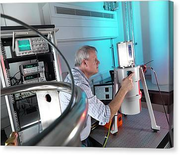 Quantum Hall Effect Metrology System Canvas Print by Andrew Brookes, National Physical Laboratory