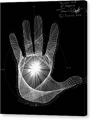 Quantum Hand Through My Eyes Canvas Print
