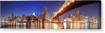Queensboro Bridge And Manhattan Canvas Print