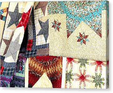 Canvas Print featuring the photograph Quilts For Sale by Janette Boyd