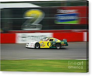 Canvas Print featuring the photograph Racing Oregon Ducks Nascar by Tyra  OBryant