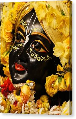 Radha Krishna Idol Hinduism Religion Religious Spiritual Yoga Meditation Deco Navinjoshi  Rights Man Canvas Print by Navin Joshi