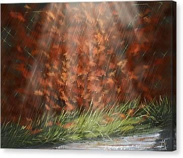Rain Canvas Print by Veronica Minozzi