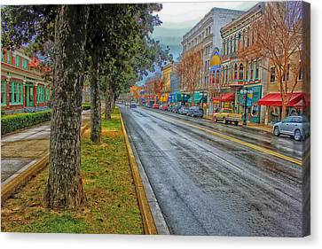 Rainy Day In Hot Springs Arkansas Canvas Print by Mountain Dreams