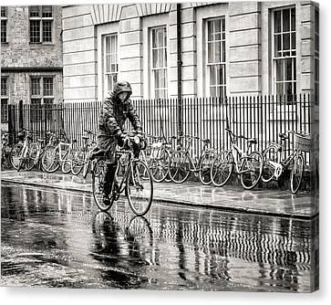 Rainy Day Ride Canvas Print by William Beuther