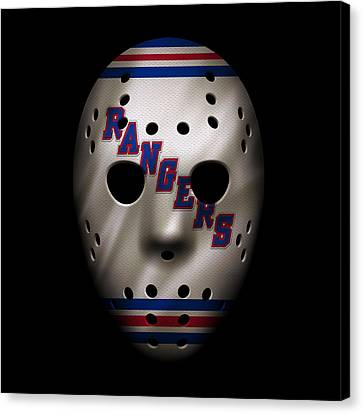 Rangers Jersey Mask Canvas Print