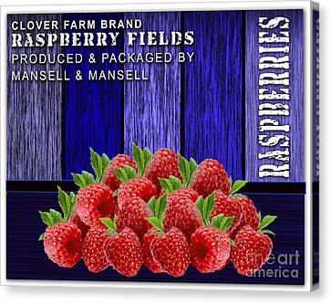 Raspberry Fields Canvas Print by Marvin Blaine