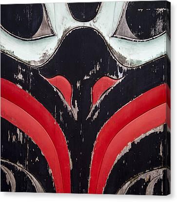Raven Totem Figure Canvas Print