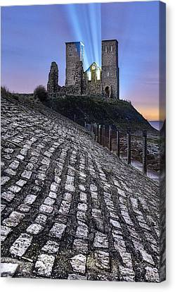 Reculver Towers At Night. Canvas Print by Ian Hufton