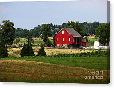 Red Barn Gettysburg Canvas Print