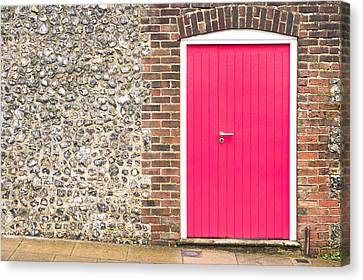 Red Door Canvas Print by Tom Gowanlock