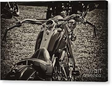 Red Harley Davidson Canvas Print by Wilma  Birdwell