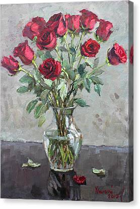 Red Roses Canvas Print by Ylli Haruni