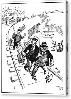 Red Scare Cartoon, 1919 Canvas Print