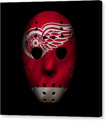 Red Wings Jersey Mask Canvas Print by Joe Hamilton