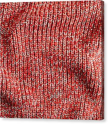 Red Wool Canvas Print by Tom Gowanlock