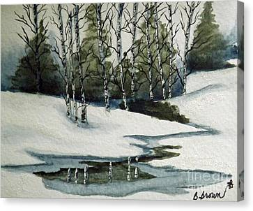 Reflections Of Winter Canvas Print by Brenda Brown