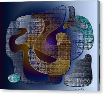 Canvas Print featuring the digital art Relaxing Shapes by Iris Gelbart