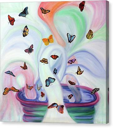 Releasing Butterflies Canvas Print by Jeanette Sthamann