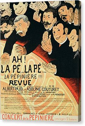 Reproduction Of A Poster Advertising Canvas Print by Jules Alexandre Gruen or Grun