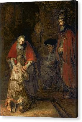 Return Of The Prodigal Son Canvas Print by Rembrandt Van Rijn