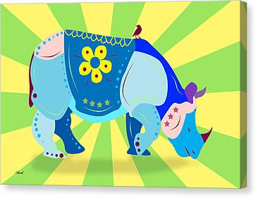 Rhino Canvas Print by Mark Ashkenazi