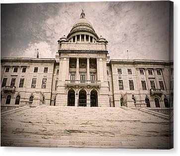 Cityhall Canvas Print - Rhode Island State House by Lourry Legarde