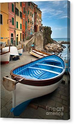 Rio Maggiore Boat Canvas Print by Inge Johnsson