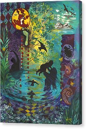 Rise Canvas Print by Alika Kumar
