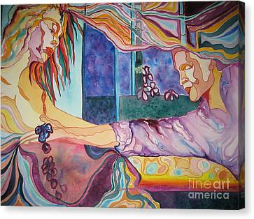 Canvas Print featuring the painting Rituals by Diana Bursztein