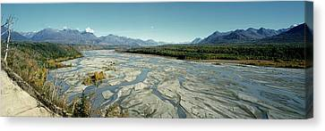 Matanuska Canvas Print - River Passing Through Mountains by Panoramic Images