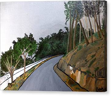 Road To The Hills Canvas Print