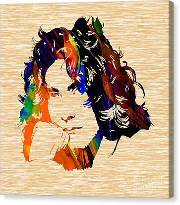 Robert Plant Collection Canvas Print by Marvin Blaine
