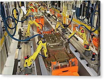 Robotic Car Production Line Canvas Print by Jim West
