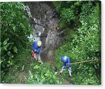 Climbing Canvas Print - Rock Climbing Rope Climbing Costa Rica Vacations Waterfalls Rivers  Recreation Challanges  Facilitie by Navin Joshi