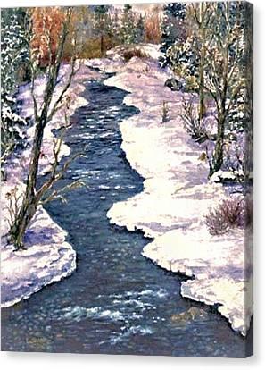 Rock Creek Winter Canvas Print